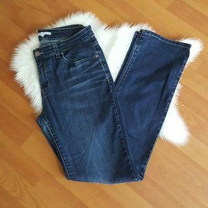 Eileen Fisher straight leg dark wash jeans Sz 6